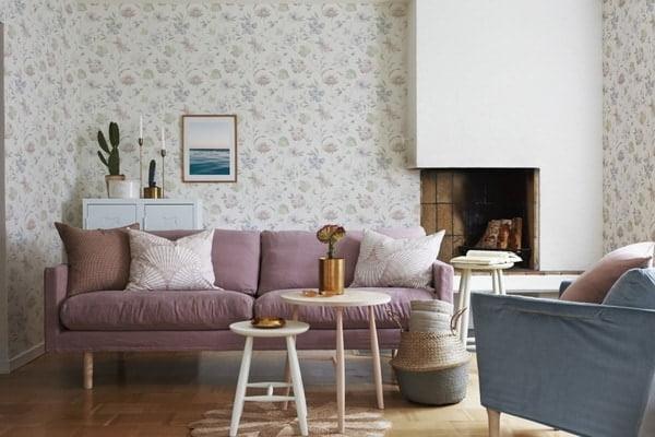Popular Combined Wallpaper In The Living Room Designs 2021-2022